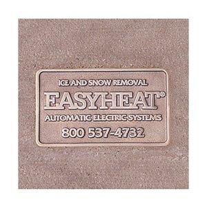 Easyheat NMPLT Brass Name Plate