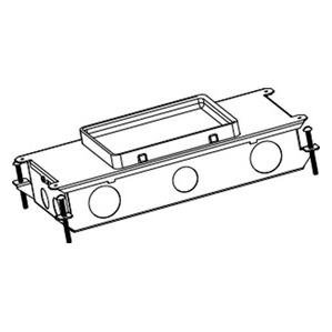 "Wiremold RFB2-OG Rectangular Floor Box, 2-Gang, Depth: 3"", Metallic"