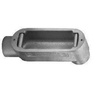 "Cooper Crouse-Hinds LB125M Conduit Body, Type: LB, Size: 1-1/4"", Form 5, Malleable Iron"