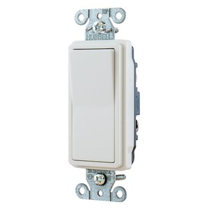 Hubbell-Kellems DS320W Decora 3-Way Switch, 20A, 120/277V, White