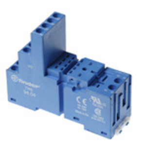 Finder Relays 94.74 Socket, P.C.B., Relay, Mounting Base, Screw Terminal, Box Clamp