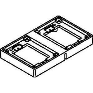 Wiremold 828TAL 2-GANG ALUM TILE FLANGE