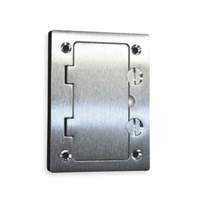 Wiremold 828DPGFITCAL Cover Plate Flange, 1-Gang, Cover Type: Flip, Aluminum