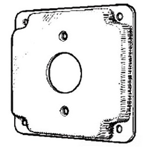 "Mulberry Metal 11403 4"" Exposed Work Cover, (1) Single Receptacle"