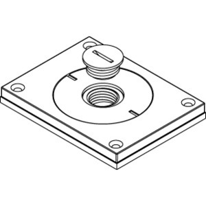 "Wiremold 830CKTCAL-1/2 Cover Plate, 1-Gang, Type: 1/2"" and 2"" Screw Plugs, Aluminum"