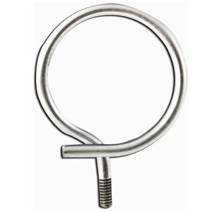 "Erico Caddy 4BRT32 Bridle Ring, Diameter: 2"", 1/4-20 Threaded, Steel"