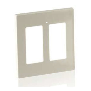 Leviton 80516-T Duplex Receptacle Wallplate, 2-Gang, Thermoset, Lt. Almond, Midway