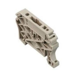 Weidmuller 8630740000 Terminal Block, End Anchor, Screw Down, Dark Beige, 8mm Width,