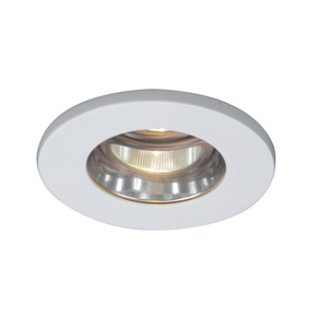 "WAC Lighting HR-D329-S-WT Shower Trim, 3"", White"
