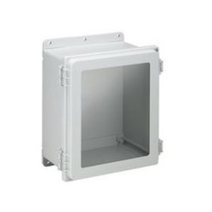 """Hoffman A16148PHCW Hinged-Cover Enclosure w/ Clear Window, 16"""" x 14"""" x 8"""""""