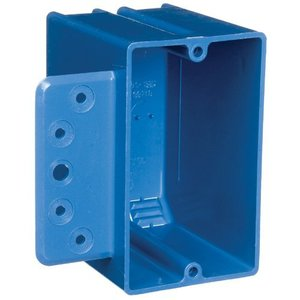 "Carlon B118B-UPC Switch/Outlet Box with Bracket, 1-Gang, Depth: 2-15/16"", Non-Metallic"