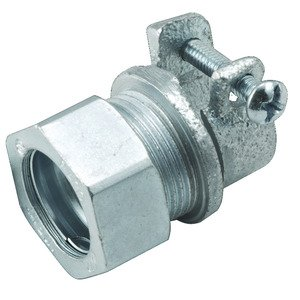"""Hubbell-Raco 1942 EMT Combination Coupling, EMT to Flex, 1/2"""", Steel/Malleable"""