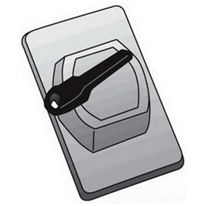 OZ Gedney FS-1-WSCA Switch Cover, 1-Gang, Aluminum