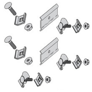 "Cooper B-Line FTS23SK Splice Plate Kit, for 4"" & 6"" Deep Flextray, for 4"" - 12"" Width"