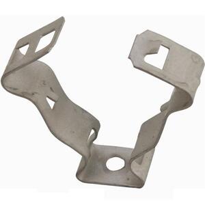 "Erico Caddy 6M Conduit Clips, 3/8"" Flexible Conduit, 9/32"" Hole, 1/4-20 Thread, Steel"