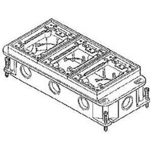 Hubbell-Raco 6275 Cncrt Box Flr 3dvc Rect.adj Ci