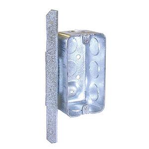 "Hubbell-Raco 661 Handy Box, Depth: 1-7/8"", 1/2"" KOs, A Bracket, Drawn, Steel"
