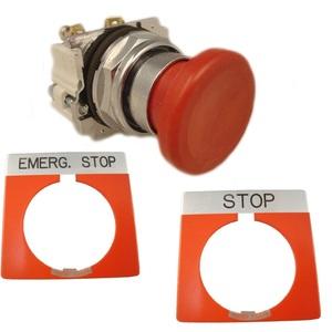 Eaton 10250T32R-POP Push Button, Mushroom Head, Red, 1NO/1NC Contact, P.O.P.