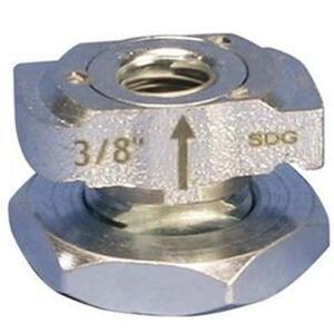 """Erico Caddy CRLS37EG Caddy Rod Lock Channel Nut, 3/8"""""""