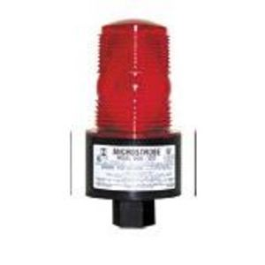 TOMAR Electronics 490S-120-R Strobe, Low Profile, Type: Single Flash, 120VAC, Lens: Red
