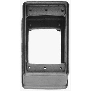 "Cooper Crouse-Hinds EXF11 Switch/Outlet Box Extension, 1-Gang, 1"" Deep, Cast Iron"