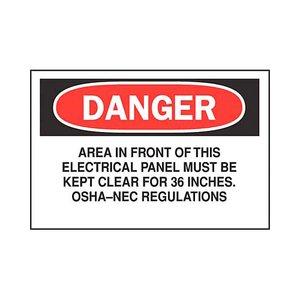 Brady 84859 Electrical Hazard Sign