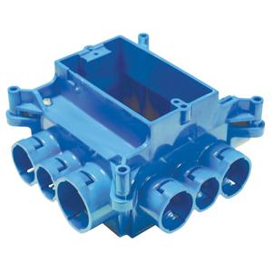 Carlon A863S 1-Gang, ENT Mud Box w/ 12 Integral Connectors, Non-metallic.