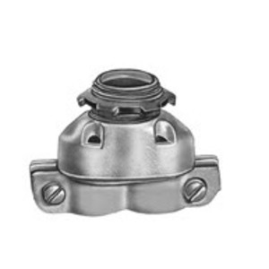 "Bridgeport Fittings 630-DC2 MC/AC Connector, 3/8"", Duplex, Zinc Die Cast"