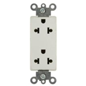 Leviton 5825-W 15A Duplex Receptacle, Decora, White, 125/250V, Commercial, 5-15R