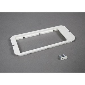 Wiremold 6SER Device Mounting Plate, Accepts (4) Ortronics Series II Modular Inserts