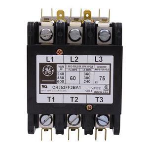 GE Industrial CR353FF3BA1 Contactor, Definite Purpose, 60A, 3P, 120VAC Coil