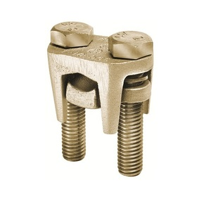 Burndy KVS34 2-Bolt Connector, Copper, Run: 400 - 500 MCM , Tap: 10 AWG - 500 MCM