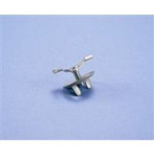 "Erico Caddy 4G1615 Fixture Clip, Type: Twist-On, Hole: 15/16"", Length: 1-1/2"", Steel"