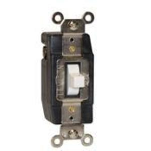 Leviton 1081-W Momentary Contact Toggle Switch, 3A, 24V AC/DC, White