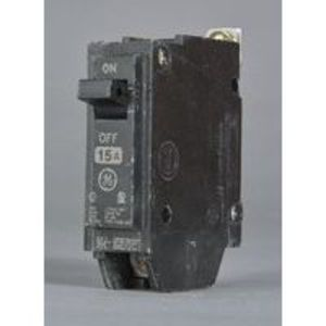 GE THHQB1115 Breaker, 15A, 120/240VAC, 1P, Bolt On, 22kAIC