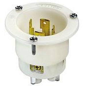Leviton 2715 Locking Flanged Inlet, 30A, 125/250V, 3P4W