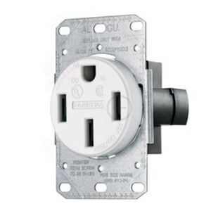 Hubbell-Wiring Kellems RR450FW Flush Mount Receptacle, 50A, 125/250V, 3P4W, Black