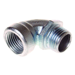 "Hubbell-Raco 1722 EMT Short Conduit Elbow, 1/2"", 90 Degree Malleable Iron"