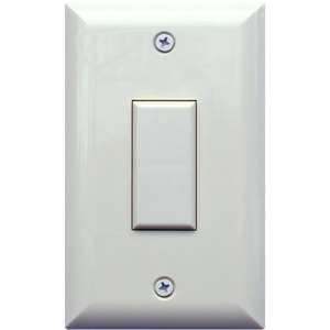 Touch-Plate GEN-1B-I Switch, 1 Gang, 1 Button/0 LED, Analog, Ivory