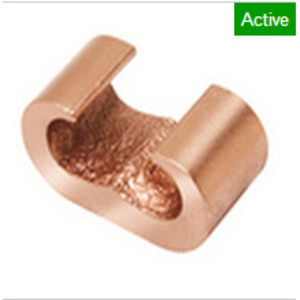 Burndy YGHC2C2 C-Tap Connector, Wire Range: 6 - 2 AWG, Copper