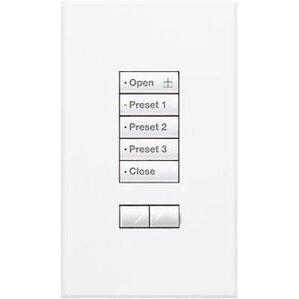 Lutron QSWS2-5BRLI-WH 5-Button Wallstation