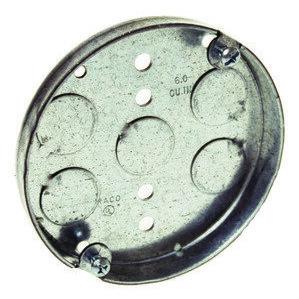 """Appleton 4CL 4"""" Ceiling Pan, 1/2"""" Deep, 1/2"""" KOs, Metallic"""