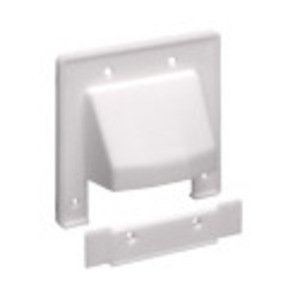 Arlington CER2 Cable Entrance Plate for Existing Cable, Non-Metallic, 2-Gang