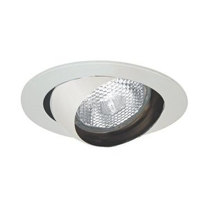 "Elite Lighting B403W-WH Eyeball Trim, 4"", White Baffle/White Trim"