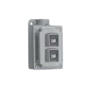 "Appleton EDSC2190 Explosionproof Pushbutton Station, 3/4"" Hub, 2 Universal Circuits"