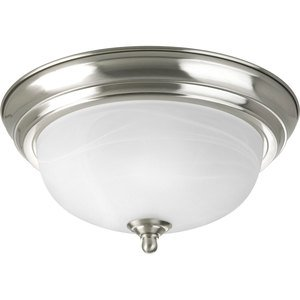 Progress Lighting P3924-09 Close to Ceiling Light, 1-Light, 60W, Brushed Nickel