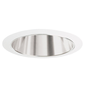 "Juno Lighting 207-CWH Cone Trim, 5"", R20/PAR20, Clear Alzak Reflector/White Ring"