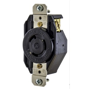 Hubbell-Kellems L620R Locking Single Receptacle, 20A, 250V, 2P3W