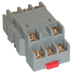 Square D 8501NR43 Relay, Socket, 11 Blade, 10A, 300VAC, DIN Rail Mount, Screw Clamp