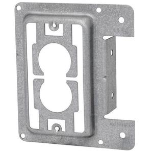 Erico Caddy MP1S Mounting Bracket, 1-Gang, Low Voltage, Nail-On, Metallic